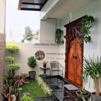pintu + kusen rumah motif ukir gebyok kayu jati