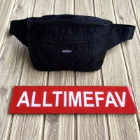 Stussy Fanny Pack Waist Bag Waistbag Black Ori BNWT