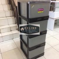 Lemari plastik locker 4 susun exclusive