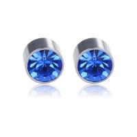 Anting magnet berlian 6mm biru 1kuping