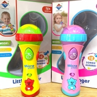 Little Singer Microphone - Jual Mainan Karaoke Anak - Alat Musik Anak - Merah Muda