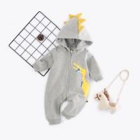 Baju Bayi Yellow Dino Hoodie