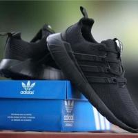 ΑDIDAS Questar Flow Warna Hitam Sepatu Pria Olahrga Running Fashion