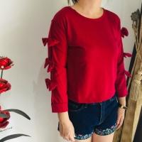 Tiffa blouse carmeo pita /baju wanita/atasan wanita - Hitam