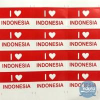 Stiker Pipi Bendera Merah Putih Indonesia / Stiker Motor Merah Putih