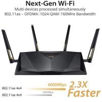 ASUS RT-AX88U Wireless 802.11AX WiFi 6 Dual Band Wi-Fi AX6000M Router