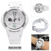 Jam Tangan Wanita Casio Baby-G BGA210 White Silver Ori Bm