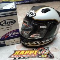 Helm fullface Arai original Japan Rapide IR MotoGP black gold glossy