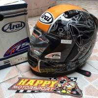Helm fullface Arai original Japan Rapide IR Ducati KTM Orange glossy