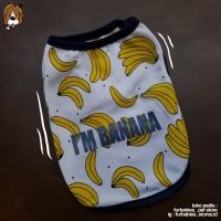 Baju anjing kucing XS S M L costume banana clothes for dog cat pet