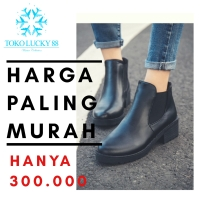 Sepatu Boots Kulit Boots Leather Ankle