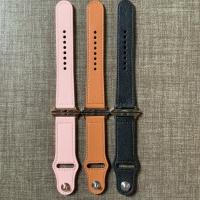 Apple Watch Leather Strap Kulit Asli Series 5 4 3 2 1 PINK BROWN BLACK