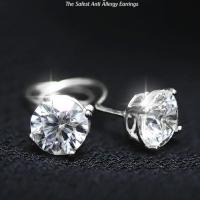 Anting Bayi Toge Emas Putih 750 Earring White Gold Baby 18 Carat