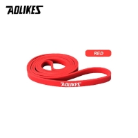 3602 AOLIKES LATEX RESISTANCE BAND TALI STRETCHING GYM FITNESS - MERAH