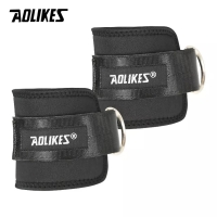 7129 AOLIKES ANKLE CUFF STRAP WRAP SUPPORT HOOK LEG RESISTANCE BAND