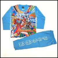 Stelan baju tidur piyama kaos panjang anak ultraman