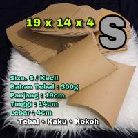 pillow box COKLAT KECiL SIZE. S / SMALL / tempat scarf / kado paket