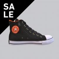 Sepatu Sneakers Casual Lucky Star Harvard Hi Black/Orange