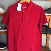 POLO SHIRT PULL&BEAR VETEMENTS BASIQUES AUTOMNE 2018 RED ORIGINAL