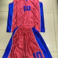 satuan jersey Stelan baju dan celana basket dewasa bahan paragon