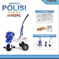 mainan sepeda polisi roda tiga / tricycle mengeluarkan musik free borg - Musik