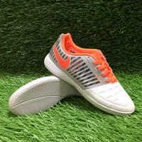 Sepatu Futsal Nike Lunar Gato II White Orange