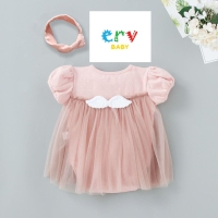 Romper / Baju Bayi / Dress Bayi Perempuan (Set Dengan Bandana)