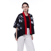 Kimono tenun lurik mix shibori