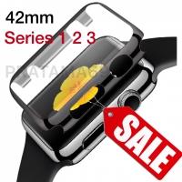 Bumper Case Tempered Apple Watch - Seri 3/2/1 Size 42mm Black - Iwatch