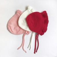 Topi bayi / topi bonnet/ topi rajut/topi anak/ topi bayi import kupluk