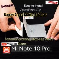 Xiaomi Mi Note 10 Pro anti gores clear dan matte doff membrane mantul