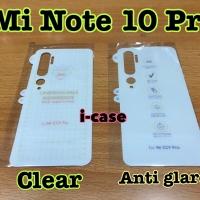 anti gores belakang Mi Note 10 Pro pilih satu clear / matte doff