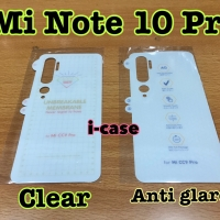 Xiaomi Mi Note 10 Pro anti gores belakang pilih clear atau matte doff