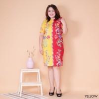 Brinda Twotone Batik Dress Baju Wanita Imlek CNY Shirt 6194