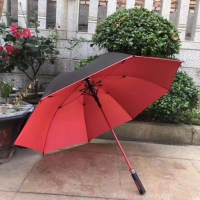 Payung Besar jumbo Golf rangka jari fiber bahan Nylon anti Uv