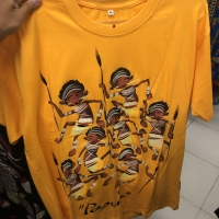 T-shirt Painting Kaos Lukis Motif Papua Merk Aneka Batik
