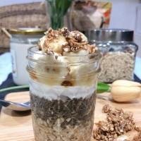 Overnight Oat Banana Honey Non Dairy - Raw Vegan