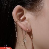 Ear clip chain shining star | rantai | anting korea | ECRT003