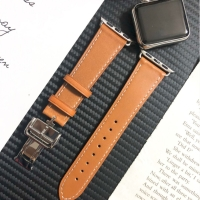 STRAP JAM KULIT APPLE WATCH LEATHER BAND BUTTERFLY DEPLOYMENT HERMES