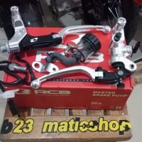 master rem rcb full set handle kiri tipe s1 universal semua motor silv