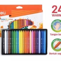 Deli Krayon Plastik Plastic Crayon Ergonomis 24C