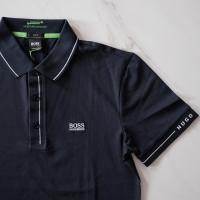 Original - Hugo Boss Polo Shirt Navy White Biru Dongker S M L XL XXL