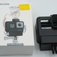 TELESIN GoPro Hero 7 6 5 Black U Frame Case Vlog Vlogging