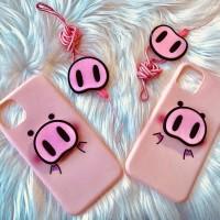 Softcase iphone 11 pro max babi piggy lucu 3 in 1 complete set
