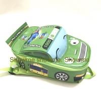 Promo tas ransel anak sekolah mobil tayo hijau