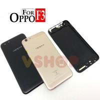 Backdoor Tutupan Belakang Oppo F3 Gold Black