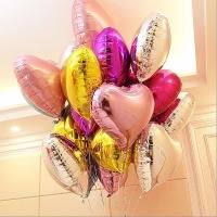 Balon foil love hati / balon foil heart / hati 10 inch 25 cm