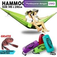 TERMURAH Hammock Single Ayunan Gantung Camping Outdoor Ringan Praktis
