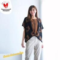Atasan Batik Wanita. Blouse Batik motif Ikan Koi