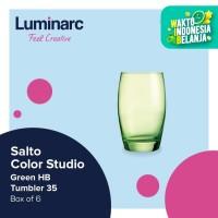 Luminarc Gelas Salto Color Studio - Green H/B Tumbler 35 - Box of 6